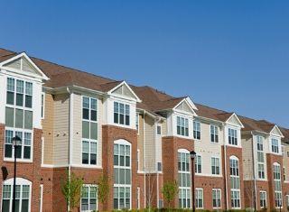 Line of rental properties in Fort Worth Texas