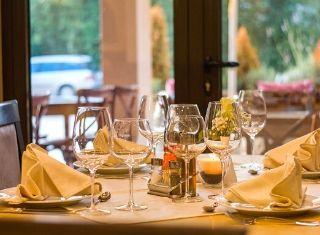 restaurant table in Texas