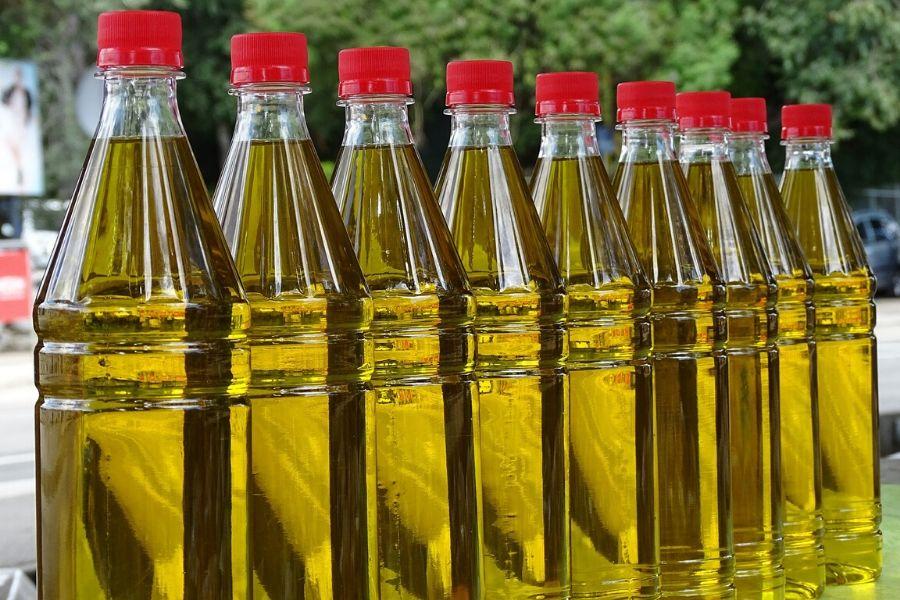vegetable oil bottles up close - natural pest control for garden method