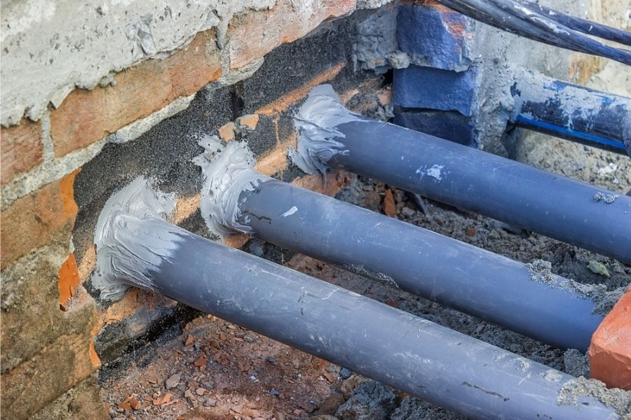rodent-proofed pipe gaps